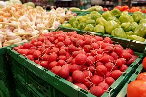 Red radish and another vegetables