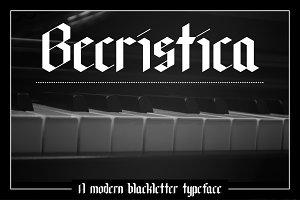 Becristica Blackletter Font