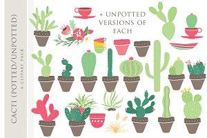 Cactus clip art clipart hand drawn