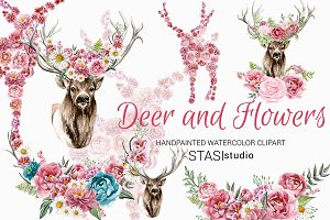 Deer with Floral Crown