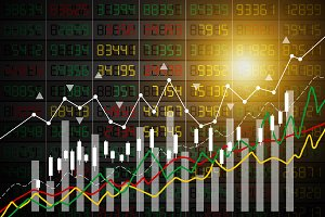 Vector stock market background