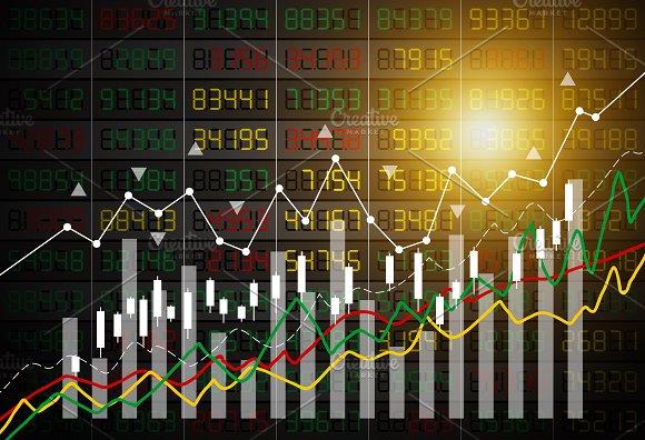 Vector Stock Market Background