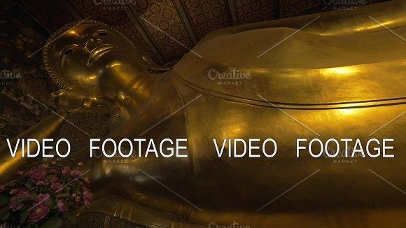 Reclining Buddha Statue In Wat Pho Temple Bangkok