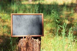 Empty black wooden frame