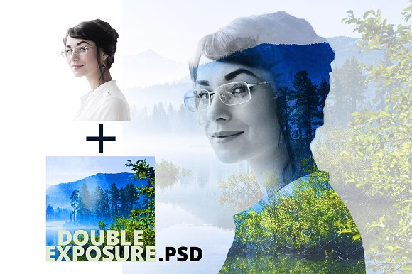 Double Exposure PSD
