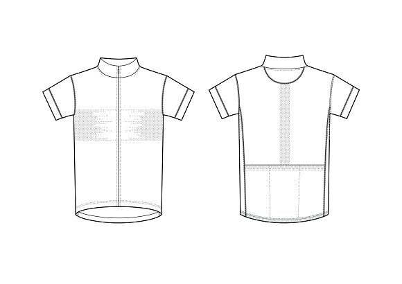 Sport T Shirt Fashion Flat Template