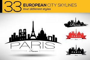 33 European City Skylines