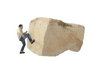 Pushing a rock
