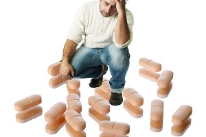 Desperate man looking for pills