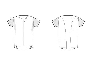 Sport T-shirt Fashion Flat Template