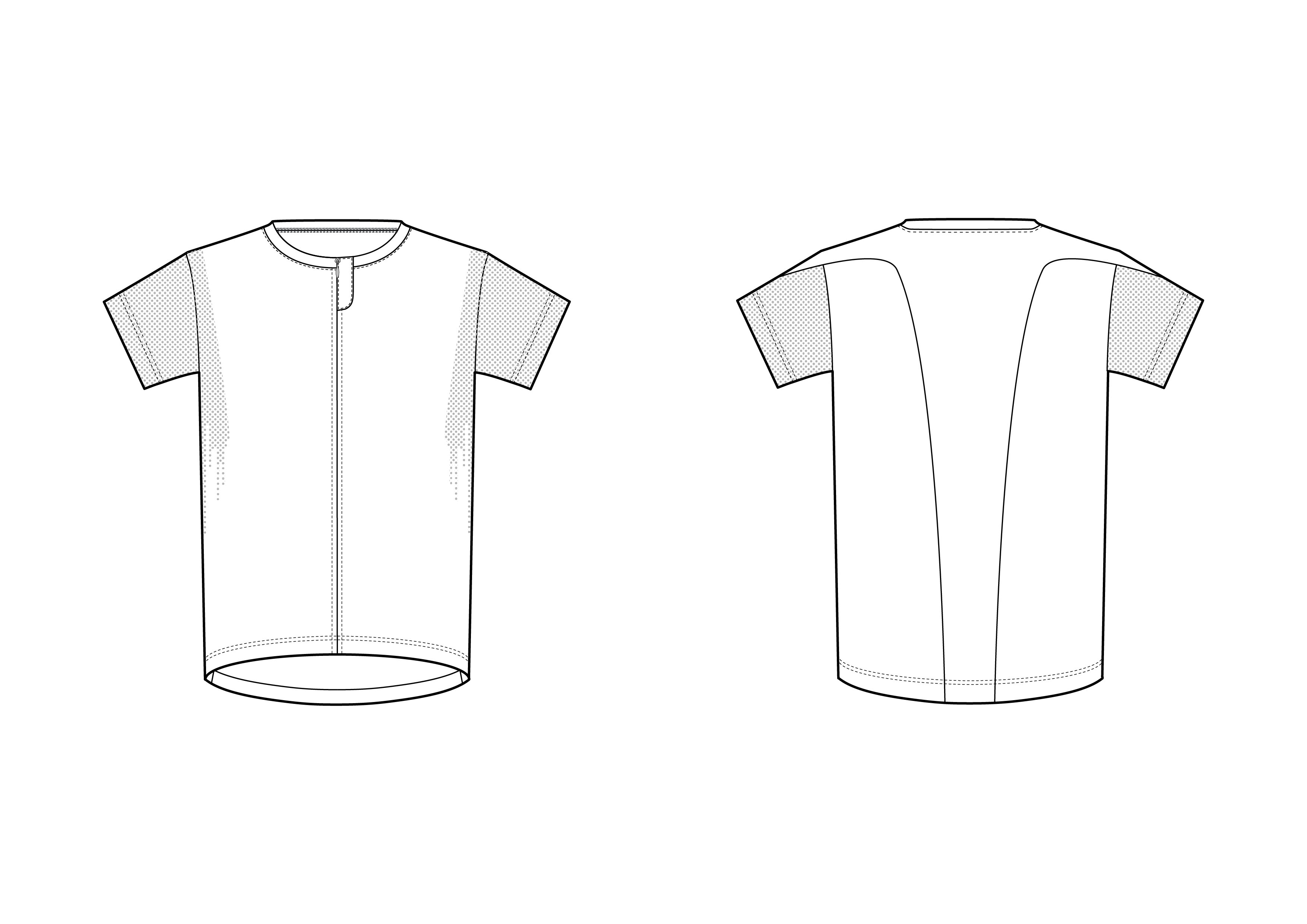Sport T-shirt Fashion Flat Template ~ Templates ~ Creative