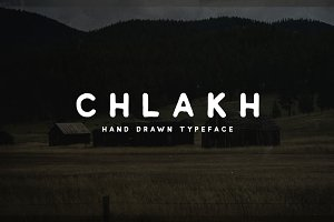 Chlakh - Hand Drawn Typeface
