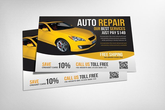 Auto Repair Business Flyer Flyer Templates on Creative Market – Car Flyers