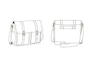 Crossbody Bag Fashion Flat Template