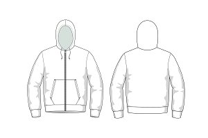 Men's Sweater Fashion Flat Template ~ Templates ~ Creative