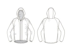 Run Jacket Fashion Flat Template