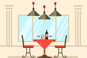 Restaurant Dinner. Vector design