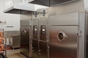 Meat and fish smoking chambers