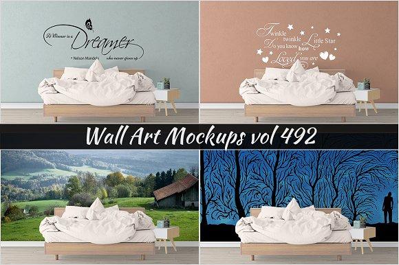 Wall Mockup Sticker Mockup Vol 492
