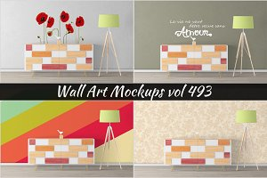 Wall Mockup - Sticker Mockup Vol 493