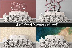 Wall Mockup - Sticker Mockup Vol 494