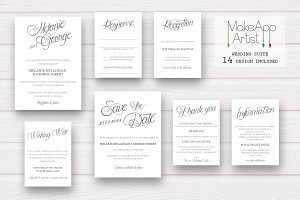 Wedding Invitation Suite - Melanie