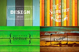 10 Wooden Retro Vintage Mock-ups