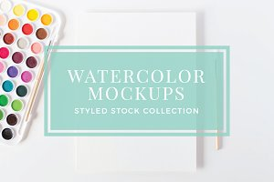 Watercolor Artist Mockup Bundle