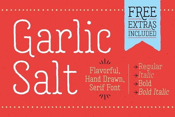 Garlic Salt Font Family 50% Off