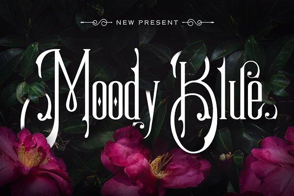 Moody Blue Typeface