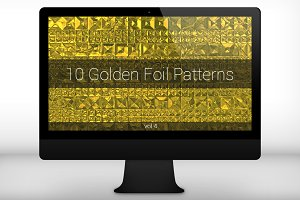 Golden Foil Seamless Patterns (v 4)