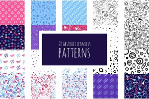 20 abstract seamless patterns