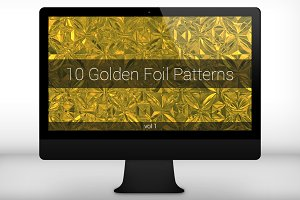 Golden Foil Seamless Patterns (v 1)