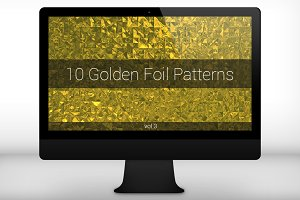 Golden Foil Seamless Patterns (v 3)