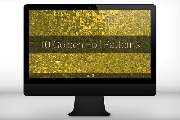 Golden Foil Seamless Patterns (v 3)