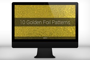 Golden Foil Seamless Patterns (v 2)