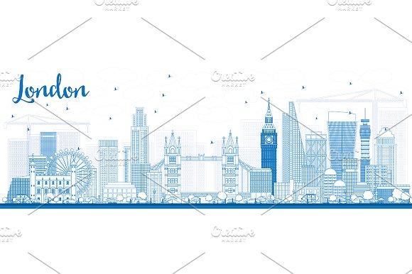 Outline London Skyline