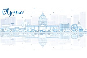 Outline Olympia skyline