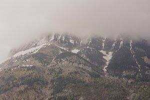 Mountain in full thaw