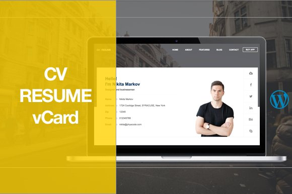 cv resume wordpress theme wordpress landing page themes