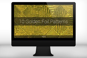 Golden Foil Seamless Patterns (v 5)