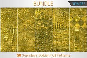 50 Seamless Golden Foil Patterns