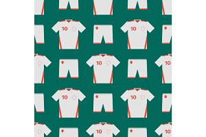 Soccer uniform template seamless pattern football club clothing vector illustration design