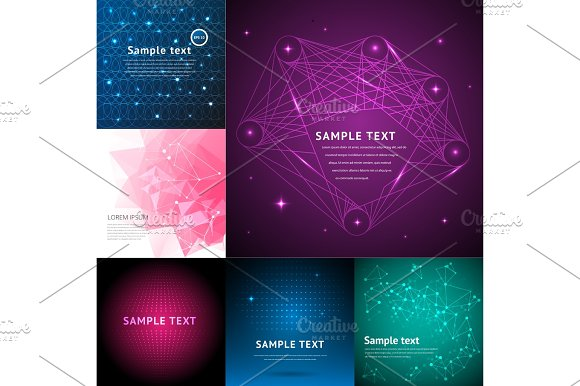 Abstract Background Graphic Digital Line Colorful Modern Art Geometric Wave Motion Glow Vector Illustration