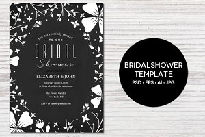 Floral Bridal Shower Invitation