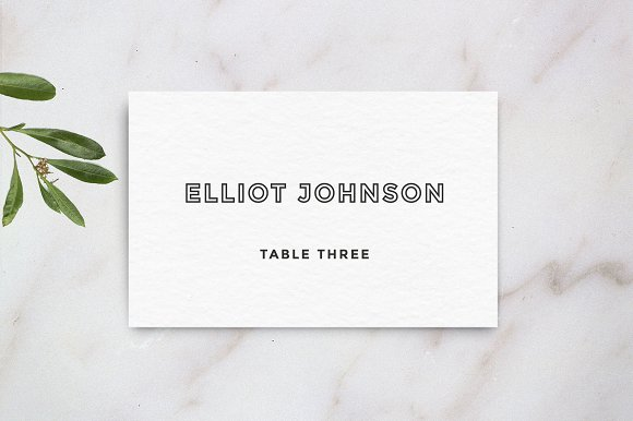 Wedding Table Place Card Template Cards