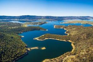 Aerial view of Lake Jindabyne