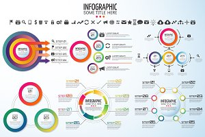 16 CIRCLE INFOGRAPHICS [AI+PSD]