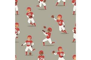 Baseball team player in uniform game poses sport character seamless pattern background vector illustration