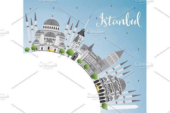Istanbul Skyline in Illustrations